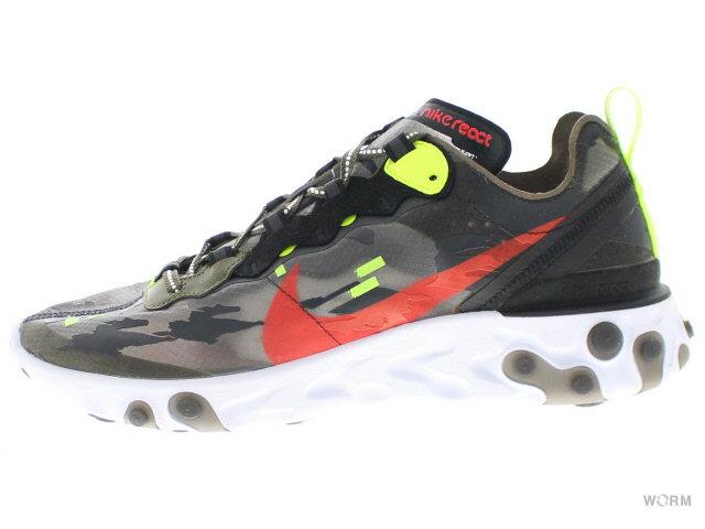 メンズ靴, スニーカー NIKE REACT ELEMENT 87 cj4988-200 medium olivebright crimson