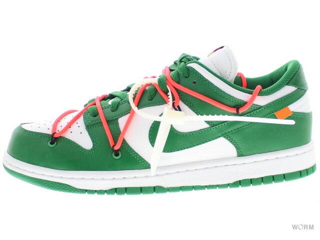 メンズ靴, スニーカー NIKE DUNK LOW LTHR OW OFF-WHITE ct0856-100 whitepine green-pine green