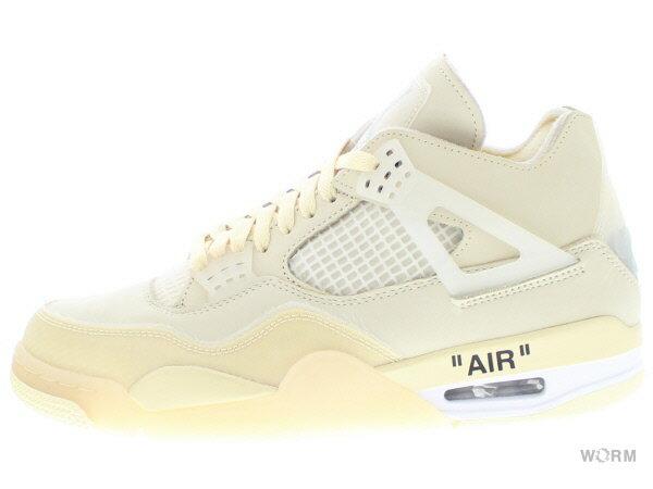 メンズ靴, スニーカー WMNS AIR JORDAN 4 RETRO SP OFF-WHITE cv9388-100 sailmuslin-white-black