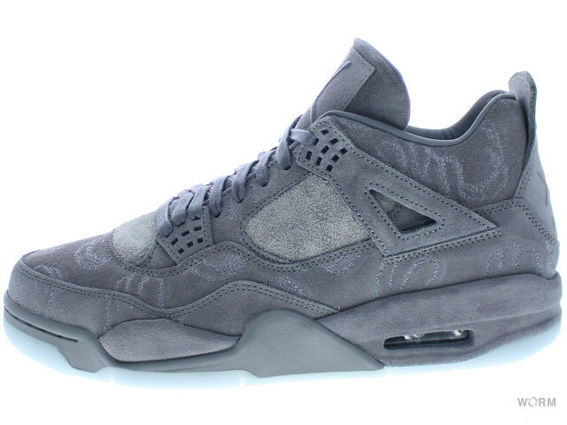 メンズ靴, スニーカー AIR JORDAN 4 RETRO KAWS 930155-003 cool greywhite 4