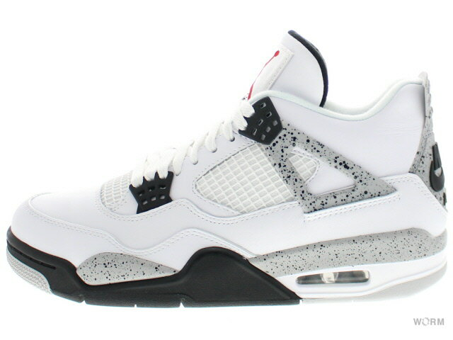 メンズ靴, スニーカー AIR JORDAN 4 RETRO OG WHITE CEMENT 2016 840606-192 whitefire red-black-tech grey