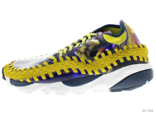 メンズ靴, スニーカー AIR FOOTSCAPE WVN CHK YOTH QS 649790-400 light midnightbright citron