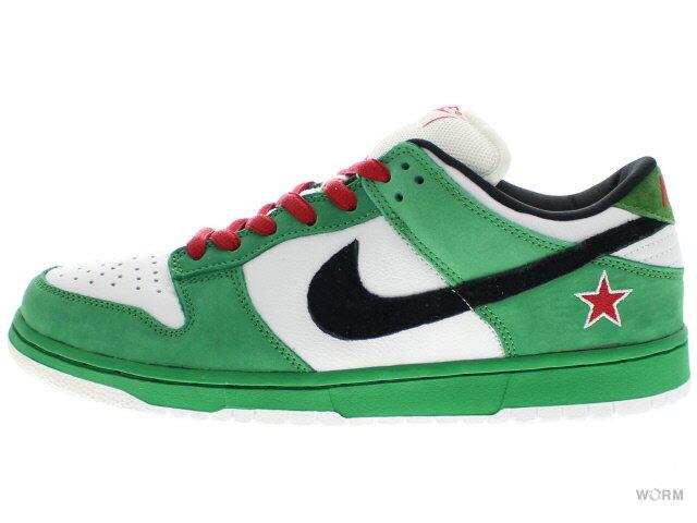 メンズ靴, スニーカー NIKE SB DUNK LOW PRO SB Heineken 304292-302 classic greenblack-white-red