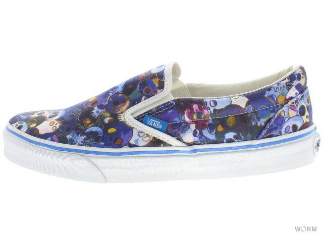 メンズ靴, スニーカー VANS CLASSIC SLIP-ON LX TAKASHI MURAKAMI vn-0zsigue (skull) blue