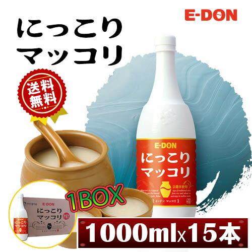 E-DON 二東にっこりマッコリ 6°イドンマッコリ [ 赤ペット ] 1L×15本 1BOX 韓国食品...