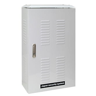 屋外用DVR収納ボックス【catFEA008】屋外へのデジタルビデオレコーダの設置が容易!鍵付き、冷却ファン付き、電源タップ付き!