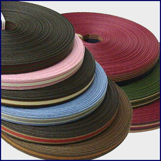 Three colors of 12 paper band (craft band) 30m winding stripe 本取