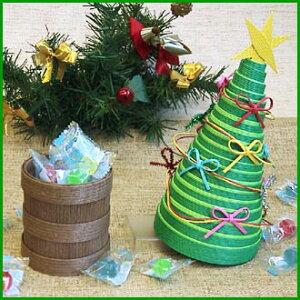 紙バンドで作るクリスマス♪クリスマスツリーの小物入れキット♪