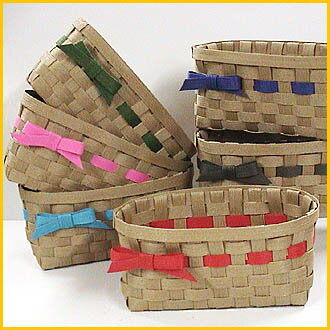 Basket kit with paper band handicrafts trial kit ♪ ribbon