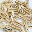ウッドクリップミニサイズ:S:50個パック(メール便不可・宅配便のみ)木製洗濯ばさみ・ウッドピンチ 1