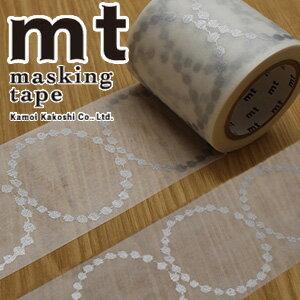 マスキングテープ mt カモ井加工紙mt x ミナ ペルホネンtambourine grande・silver(48mmx10m)MTMINA31