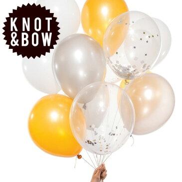 風船 KNOT & BOW パーティーバルーン(12個入り) メタリックミックス