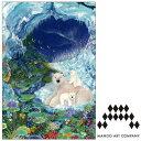 シモジマラッピング倶楽部で買える「ポストカード MANGO ART COMPANY Natsuki Wakita ホッキョクグマ」の画像です。価格は162円になります。