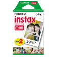 【FUJI FILM/フジフィルム】チェキ用フィルム20枚(10枚x2パック)インスタントカラーフィルム instax mini