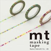 マスキングテープ mt カモ井加工紙 mt slim 3mm ポップ 3巻入りパック(3mm×10m)MTSLIMS06