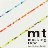 マスキングテープ mt カモ井加工紙 mt slim 3mm アート 3巻入りパック(3mm×10m)MTSLIMS10
