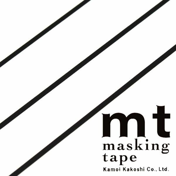 マスキングテープ mt カモ井加工紙mt slim 3mm マットブラック3巻入りパック(3mm×10m)MTSLIMS11