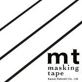マスキングテープ mt カモ井加工紙 mt slim 3mm マットブラック 3巻入りパック(3mm×10m)MTSLIMS11