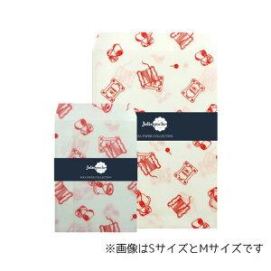 【楽天スーパーSALEお買い得価格!】ワックスペーパーバッグ 封筒タイプ 三和蝋紙所 糸巻き ホワイト Mサイズ(5枚入り)TWI-02WH