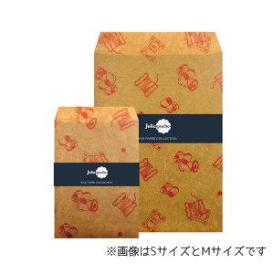 【楽天スーパーSALEお買い得価格!】ワックスペーパーバッグ 封筒タイプ 三和蝋紙所 糸巻き ベージュ Mサイズ(5枚入り)TWI-02BG