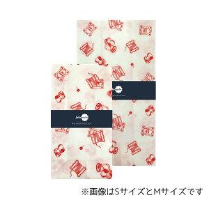 ワックスペーパーバッグ 角底タイプ 三和蝋紙所 糸巻き ホワイト Sサイズ(5枚入り)TWI-03WH