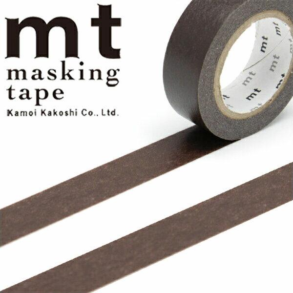 【クーポン配布中】マスキングテープ mt カモ井加工紙mt1P 無地ココア (15mmx10m)MT01P203・1巻