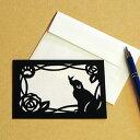 ハンドメイドキット トラストプリンティング 切り絵でメッセージカード いぬ MSGS008