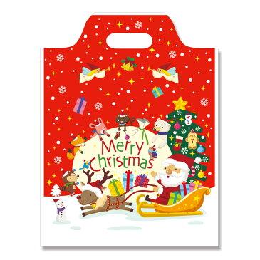 クリスマスポリ袋 ハンディバッグHEIKO シモジマハッピークリスマスSS 100枚