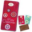 クリスマスお菓子クリスマススノークリスタルフラット缶aピンク