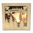 クリスマスライトオブジェノルディックウッドLEDライトブックフレームクリスマスタウンBLXG3780NA