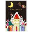 クリスマスカードAPJ/アートプリントジャパンシンプルハンドメイドグリーティングカードコロボックル(イルミネーション)XC-1000066506(1枚入り)