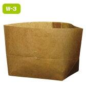 ワックスペーパーバッグ 紙袋 ロー引き袋 亀底 W-3(100枚入り)