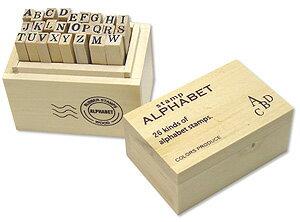 ウッドボックススタンプ 1003252-01 アルファベットS