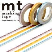 マスキングテープ mt カモ井加工紙 MTSLIM18 mt slim deco C 3p (6mmx10m)