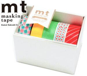 マスキングテープ mt カモ井加工紙 GIFT BOX ポップ5巻セット MT05G001