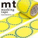 マスキングテープ mt カモ井加工紙 mt x ミナ ペルホネン 1p tambourine grande・yellow(48mmx10m)MTMINA22