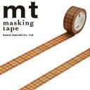【マラソン限定!ポイント10倍!】【カモ井加工紙】マスキングテープ mt fab ワックスペーパーテープ 1p 千鳥チェック(15mmx3m ミニ紙管)MTWX1P02