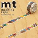 【マラソン限定!ポイント10倍!】【カモ井加工紙】マスキングテープ mt fab 型抜きテープ 1p 幾何学(17mmx3m ミニ紙管)MTKT1P01