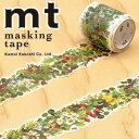 【マラソン限定!ポイント10倍!】【カモ井加工紙】マスキングテープ mt fab 型抜きテープ 1p グリーン(38mmx3m ミニ紙管)MTKT1P04