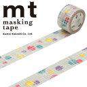 【マラソン限定!ポイント10倍!】【カモ井加工紙】マスキングテープ mt fab スクリーン印刷 1p マルとセン(20mmx3m ミニ紙管)MTSC1P01