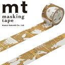 【マラソン限定!ポイント10倍!】【カモ井加工紙】マスキングテープ mt fab スクリーン印刷 1p ストーリー(25mmx3m ミニ紙管)MTSC1P02
