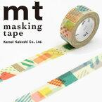 マスキングテープ mt カモ井加工紙 mt for kids ぺたぺた (15mmx7m ミニ紙管)MT01KID020