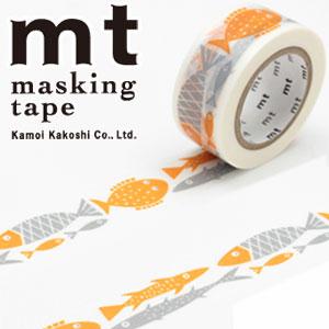 【カモ井加工紙】マスキングテープ mt x ベングト&ロッタ 1p fish(20mmx10m)MTBELO06