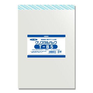 クリスタルパック HEIKO シモジマ テープ付きOPP袋(透明袋) T-B5(19.5-27) (100枚入)