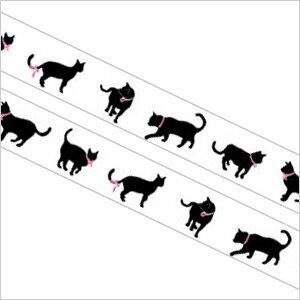 3150円以上で送料無料!(沖縄県をのぞく)かわいい猫の柄入りテープ!通常のセロテープサイズで...