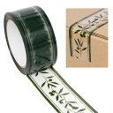 柄入りOPPテープ HEIKO/シモジマ パッキングテープ オリーブガーデン 50mmx50m