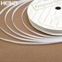 リボン ラッピング HEIKO/シモジマ シングルサテンリボン 幅3mmx20m 白(シロ・ホワイト)
