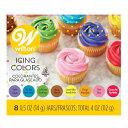【 wilton 8カラー セット 】 ウィルトン アイシング カラー 8色 カラフル デコレーション トッピング 製菓材料 ケーキ クッキー クリーム 洋菓子 業務用 20P30May15 _5bu・・・