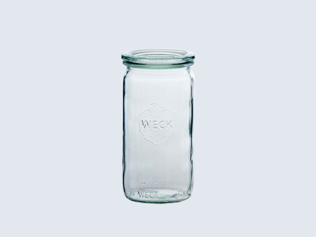 【 weck キャニスター Straight 340 】 weck ウェック ストレート 耐熱 ガラス 容器 瓶詰め パスタ 保存 ガラスキャニスター ストッカー 調味料容器 保存容器