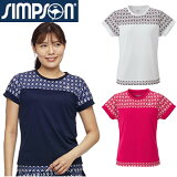 シンプソン(Simpson)テニスウェアレディースゲームシャツTシャツ【送料無料】レディーステニスウェアレディースウェアSTW-02100C